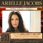 Arielle Jacobs at 54 Below