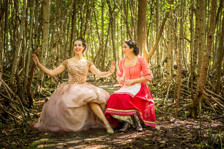 Annemarie Rosano as Cinderella and Arielle Jacobs as Baker's Wife