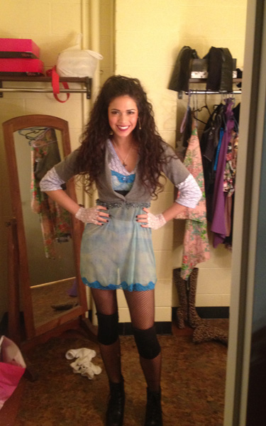 Arielle Jacobs as Mimi in Rent