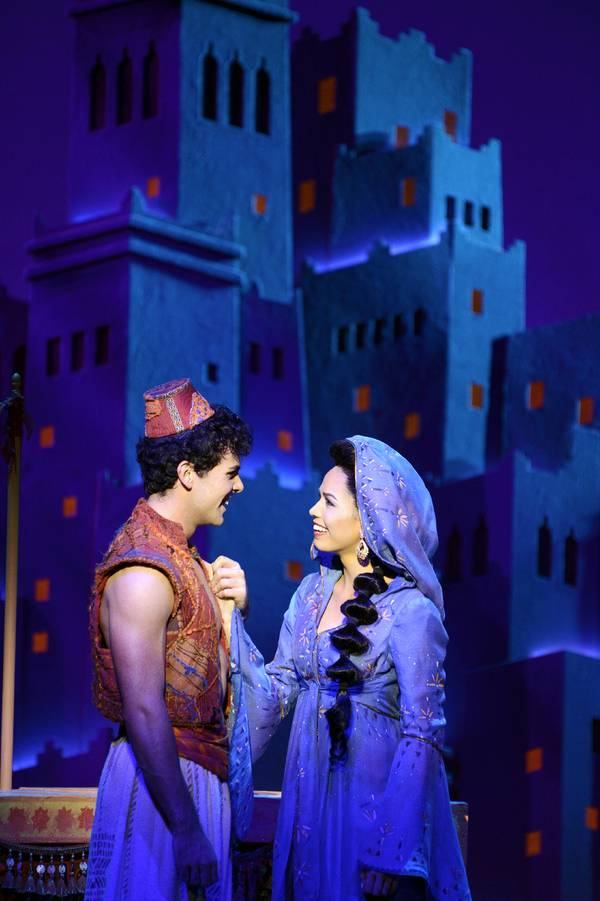 with Ainsley Melham as Aladdin